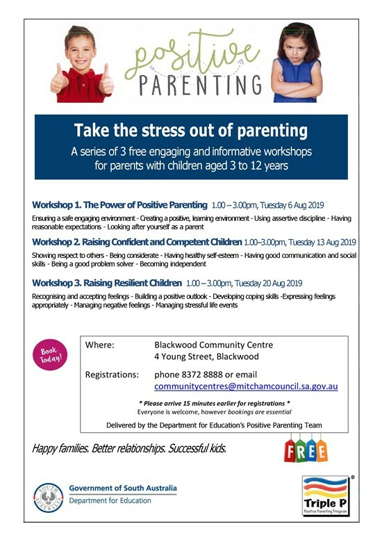 Positive Parenting Flyer - Blackwood Community Centre